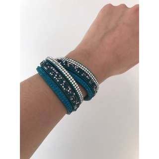 Blue Diamond Wrap Bracelet
