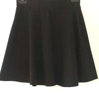 2X Black Skater Skirt