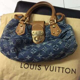Louis Vuitton Denim Monogram Pleaty Handbag