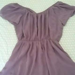 Purple Flowy Dress