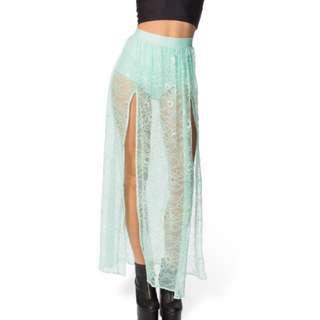 Black Milk Mint Split Skirt Festival Splenda
