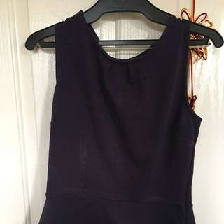 Peplum Purple Shirt