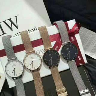 Instock Selling Fast NEW Classic Melrose Sterling Petite Authentic BNIB Daniel Wellington Sheffield, Canterbury, Dapper, York Black Gold, Classic Black, Full Black Watch!!
