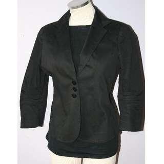 FRANCO MIRABELLI Black Jacket - Size 6 -