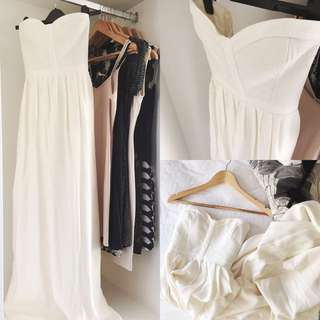 Parker Offwhite Bustier Maxi Dress