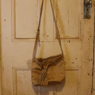 Tan Bucket Bag