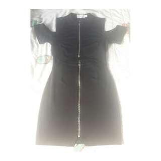 Nasty gal dress cut out zipper bodycon gothic sexy black medium