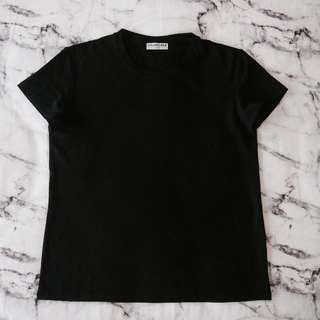 Balenciaga Plain Black Tee Size M NBWT