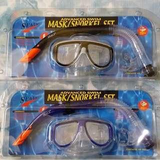 Seals Mask and Snorkel Set for adult