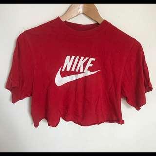 Nike Red Crop Top