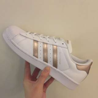 Adidas Superstar 玫瑰金 金標