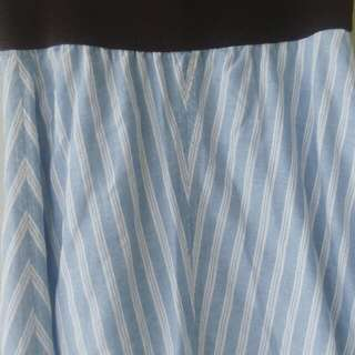 Rok Panjang Blue Strip / Garis-garis