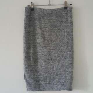 PRICE DROP - Grey Knee Length Skirt
