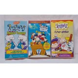 3x Rugrats VHS Video Tape Pack