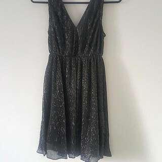 PRICE DROP - Black And Silver Mini Dress