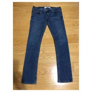 Hollister Medium Wash Low Rise Skinny Jeans