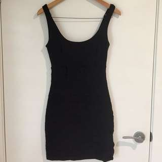 Kookai Black Lycra Dress, Short