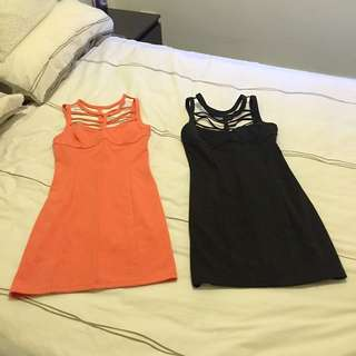 Black & Peach Dress Both Together $35