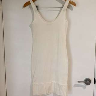 Kookai Ivory Cotton Dress, Short