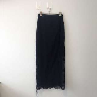 Navy Blue Wrap Around Skirt
