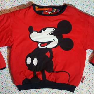 Disney Mickey Mouse Reversible Puffy Sweater