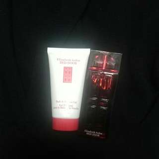 Red Door Fragrance Mini Bath Gel And Perfume
