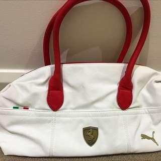 Puma Ferrari White Handbag