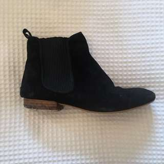 Seed Black Suede Riding Boots Size 37