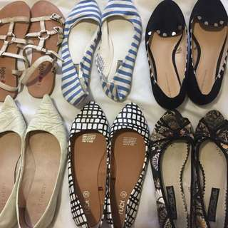 6 X Pairs Flat Shoes