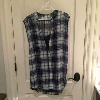 BB Dakota Checkered Dress With Built In Slip On
