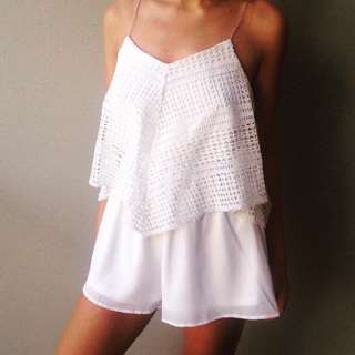 white angel playsuit $30