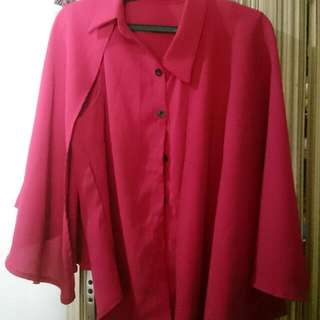 Red Cape Blouse