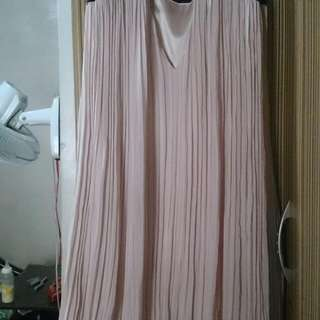 Pleated Dress/Long Blouse