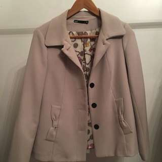 Dotti Cream Jacket. Size 8