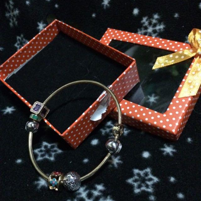 14k Pandora Inspired Bracelet