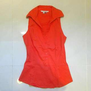 Zara Orange Shirt Top. Size XS