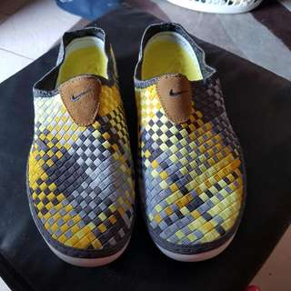 Yellow And Grey Nike Slip Ons