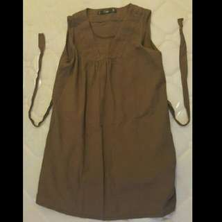 Oxygen Brown Blouse with Belt