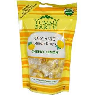 YumEarth, Organic Lemon Drops, Cheeky Lemon, 3.3 oz (93.5 g)
