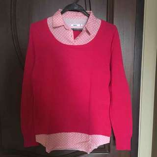 pink sweater shirt
