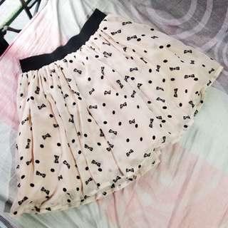 Ribbon Print Skirt