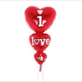 (OnHand) BIG I love u balloon
