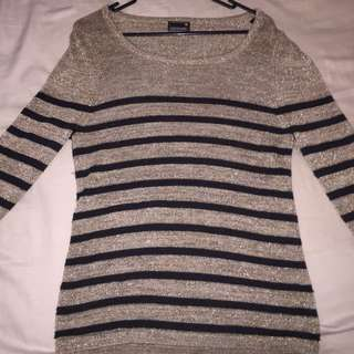 Gold And Black Jumper Size M