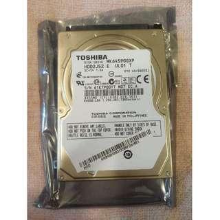 TOSHIBA 640G 2.5吋 硬碟
