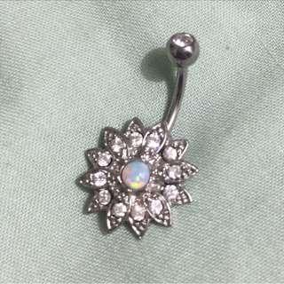 Diamanté Flower Navel Piercing