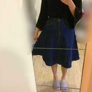 復古風牛仔圓裙