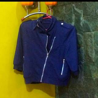 3/4 blue cotton jacket
