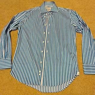 Rhodes and Beckett Shirt - 39 Slim R - Blue/White