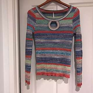 Free People Striped Knit