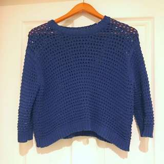 Gorman Navy Chunky Knit